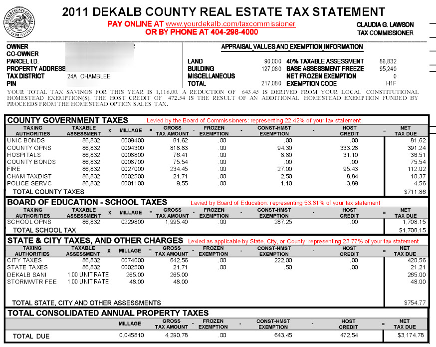 Chamblee Dekalb County Georgia Property Tax Calculator Millage Rate