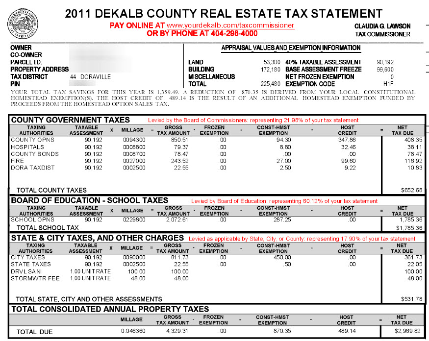 ... Sample Tax Doraville ...