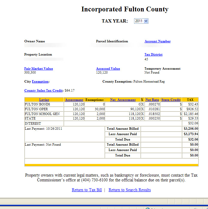 Roswell Georgia Property Tax Calculator. Millage Rate, Homestead ...
